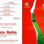 «John Batho, Histoire de couleurs, 1962-2015″, musée de Normandie à Caen