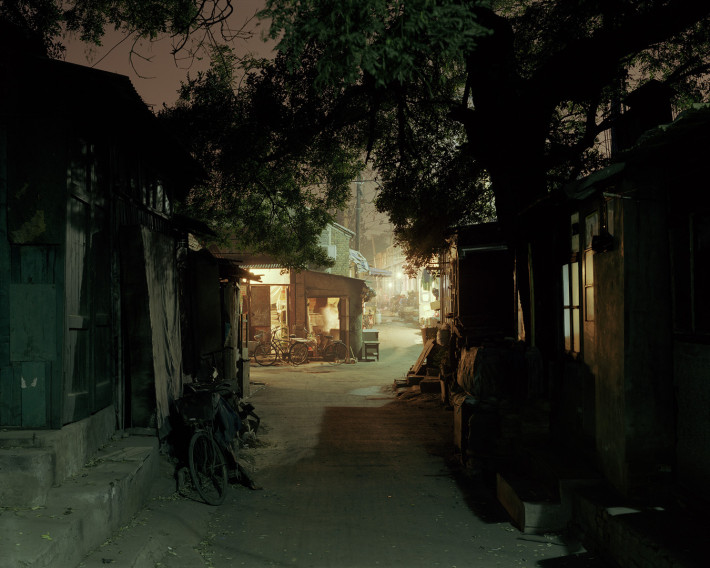 Hutong south of Guangqumen Neidajie. Beijing, China. 11/2002