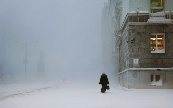 Leninskij Prospekt Norilsk Sibérie (c)Christophe Jacot